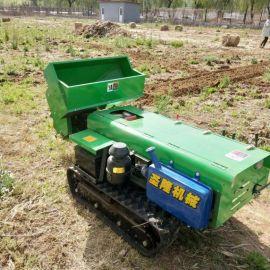 果园开沟施肥机,履带式开沟机工作视频