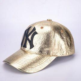 在唐定制棒球帽 NY漆皮棒球帽 logo刺绣棒球帽