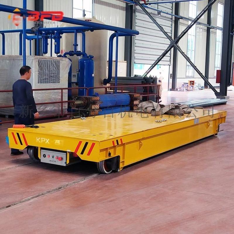 转运铝板铝卷50吨钢管运输地轨车 平板导轨车