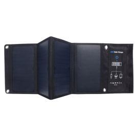 5V28W太阳能手机充电器4片折叠书本大小