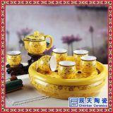 高档茶具龙纹青花茶杯