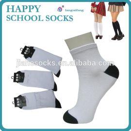 纯棉儿童袜 男女中童袜 全棉短筒松口女袜 学生短筒袜