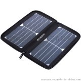 ECEEN 10W5V太阳能充电器户外便携防水折叠充电宝适用于苹果三星小米华为平板充电 黑色