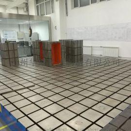 铸铁拼接平板大型平台定制高精度铸铁沧州华威