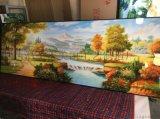 晶瓷画,彩瓷画,床头画,家居装饰工艺画,实木有框画