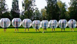 浙江台州景区趣味游乐设备充气透明碰碰球