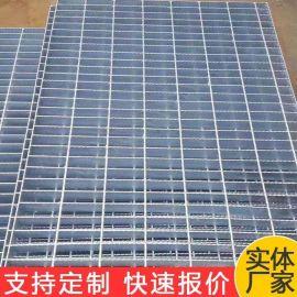 镀锌钢格栅盖板 台州水厂水坑网格盖板镀锌 钢梯钢格板踏步板