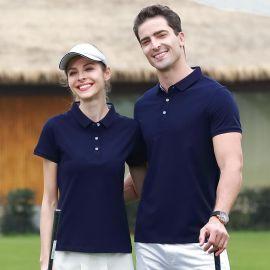 带翻领女短袖T恤大码运动广告POLO衫全棉工作服丅桖衣服定制logo