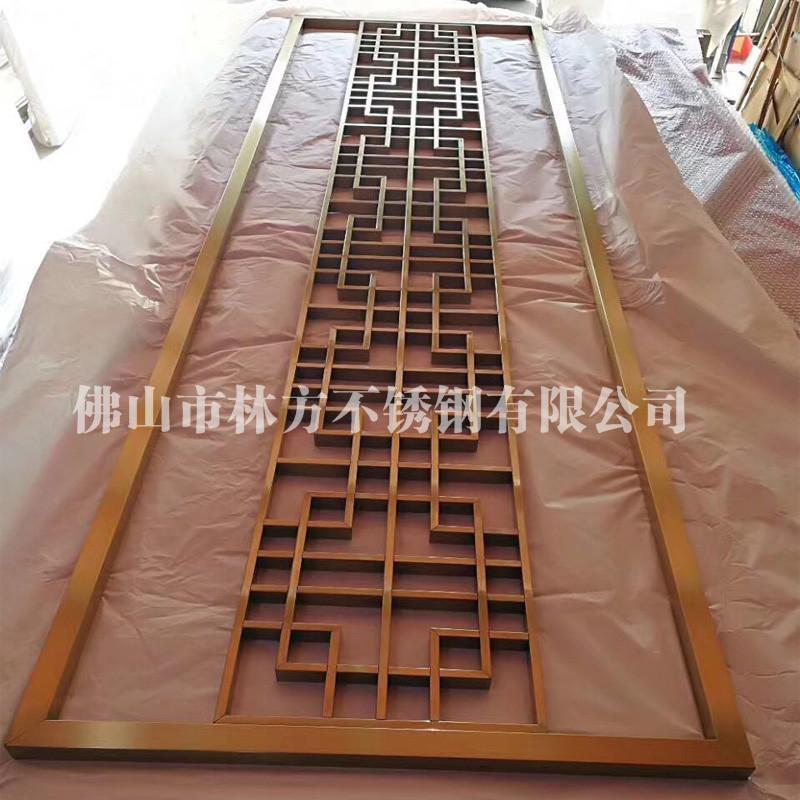 湛江酒店屏风定做 拉丝花纹不锈钢屏风加工