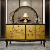 新中式間廳櫃入戶裝飾櫃,鞋櫃儲物櫃,手繪彩繪櫃