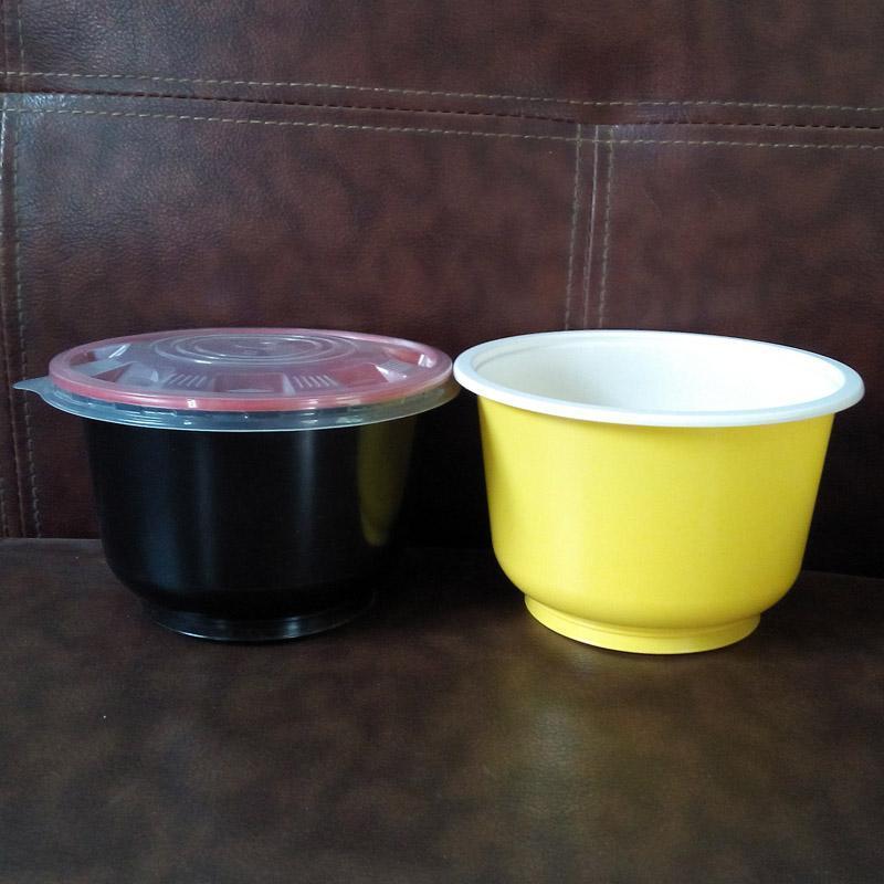 山東廠家直銷一次性塑料打包碗帶蓋子