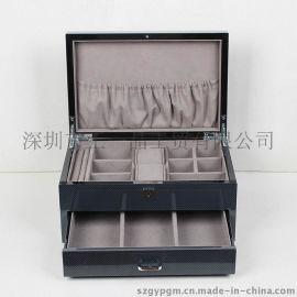 高档首饰箱 珠宝盒 油漆盒 欧式经典珠宝首饰收纳盒 木盒