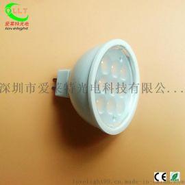 新款全塑3W LED燈杯 MR16 LED射燈 2835光源 不可調光 外貿品質