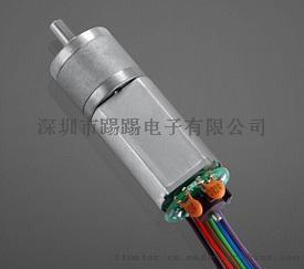工廠生產加編碼器的減速電機