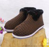 老北京瓦片棉鞋中老年爆款防滑保暖棉鞋精品藍牛底中幫保暖女鞋