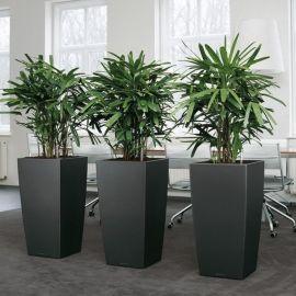 厂家批发玻璃钢花盆 **美陈菱形面异形玻璃钢花盆组合定制