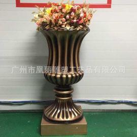 欧式复古花盆装饰 园林设计 花盆树脂工艺婚庆装饰