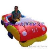 紅色跑車兒童充氣電瓶車,河北承德兒童氣模四輪車