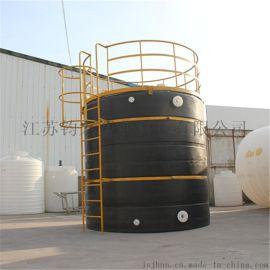 钧宏塑业15立方圆柱体塑料水塔供应