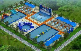 安徽池州水上乐园厂家定做搭配水上浮具充气水池