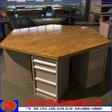 六角工作台 实木榉木六边台面 钳工操作台桌子