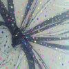 全滌銀箔網布-五角星