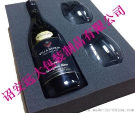 薄利供应进口红酒抗压定位内衬包装内托EVA植绒