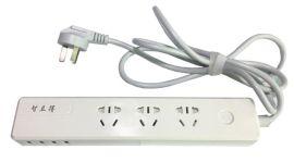 智立得智能USB插线板多功能转换带电源插座拖线板3孔三孔独立开关