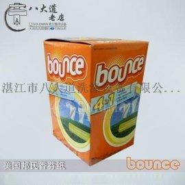 美国Bounce邦氏柔顺纸 烘干机专用香衣片 让衣服更柔软清香香芬纸