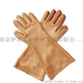 天津雙安勞保絕緣手套橡膠絕緣均碼5kv絕緣手套褐色