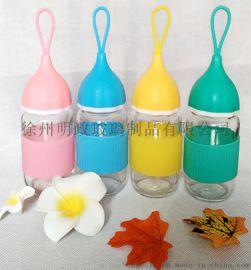 批发创意小艾玻璃杯可爱儿童水杯广告促销礼品杯子定制可印logo