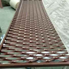 厂家供应规格定制款喷塑铝板网装饰拉伸网