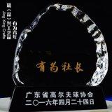 有为青年水晶奖牌 年度表彰部门经理奖牌定制
