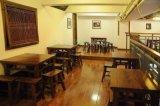 西安实木餐桌椅、老榆木桌椅、红木餐桌、饭店火锅桌