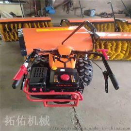长春供应多功能手推式扫雪机小型马力足传动清雪设备