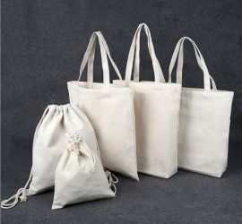 廠家定做棉布抽繩束口袋帆布收納小袋子棉麻廣告袋