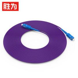 胜为铠装光纤跳线 SC-SC单模单芯室内尾纤 3米