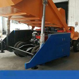 新疆哈密一拖三双料斗喷浆车 液压自动上料喷浆车
