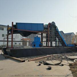 挖沙淘金船選金設備 大型河道淘金船 生產河道挖沙船