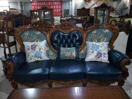 欧式家具厂家直销--纯皮沙发组合