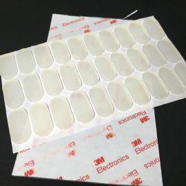 生产直销平价圆形硅胶垫白色橡胶垫片方形防滑自粘脚垫