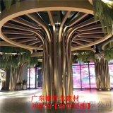 餐厅圆形柱子铝单板-包柱装饰2.0厚金色铝单板