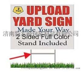 中空板广告牌,户外展示架警示牌制作