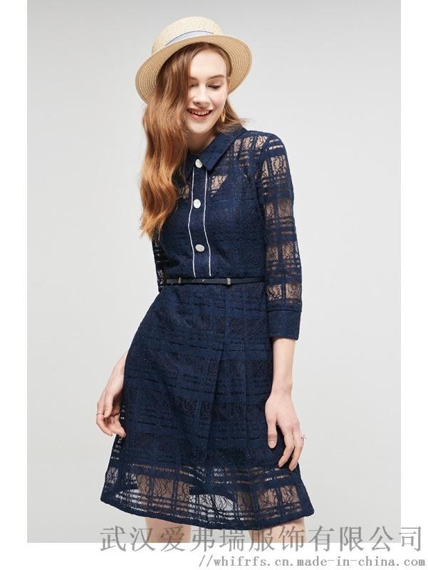 【零库存代销】服装拿货退换货VERO刺绣显瘦长裙