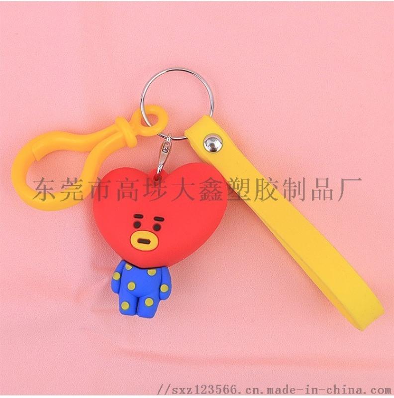 硅胶钥匙扣 玩偶钥匙扣 ATBC钥匙扣