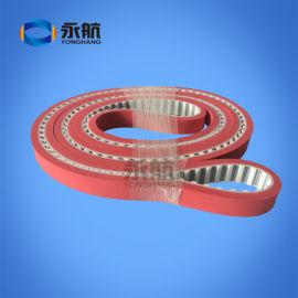 广州永航产家直供PU钢丝同步带加胶 玻璃磨边机皮带