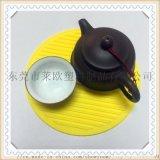东莞莱欧直销PVC软胶杯垫 硅胶餐垫 隔热垫