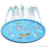 夏季户外喷水垫1.7m充气水垫鲸鱼款儿童戏水玩具
