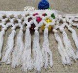 廠家供應手工打結棉線排鬚花邊  可定製