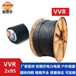 VVR2*95电缆厂家找深圳市金环宇电线电缆有限公司,红色 蓝色电缆